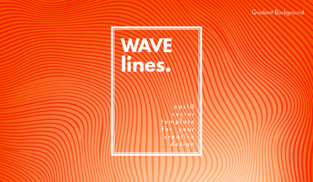 Wave Lines. Abstract Geometric Template with Distorted Stripes and Gradient. Flow Background in Minimal Style. Eps10 Vector. Illustration with Lines for Cover, Poster, Brochure, Business Design, Blank Illustration