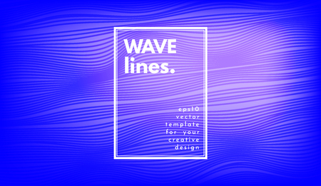 Wave Lines. Abstract Geometric Template with Distorted Stripes and Gradient. Flow Background in Minimal Style. Eps10 Vector. Illustration with Lines for Cover, Poster, Brochure, Business Design, Blank Ilustração
