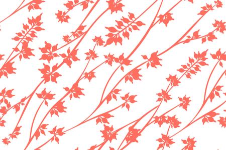 Autunno Seamless Pattern con foglie di eucalipto. Rami naturali del fogliame. Sfondo decorativo in stile vintage. Modello di eucalipto senza cuciture per tessuto, tessuto, carta da imballaggio, stoffa, abito, stampa.