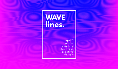 Abstract Wave Stripes. Geometric Template with Distorted Lines and Gradient. Flow Background in Minimal Style. Eps10 Vector. Cover with Stripes and Movement for Poster, Brochure, Business Design,Blank