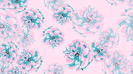 Rustic Roses Pattern, Floral Pastel Watercolor Background. Vintage Flowers, Wedding Invitation Cards. Elegant Roses Pastel Bouquet for Fashion Print. Vector Floral Illustration. Spring Rose in Pastel.