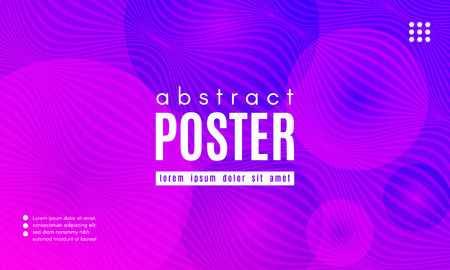 Abstract Background with Fluid Shapes. Wave Distorted Lines. Movement of Abstract Neon Liquid. Trendy Banner for Landing Page. Vector Abstract Background with Bright Vibrant Gradient and Wavy Liquid. Ilustrace
