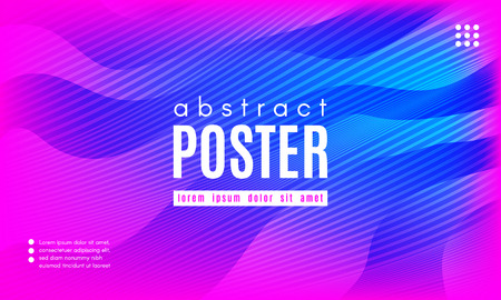Gradient Fluid Shapes. Abstract Background in Blue and Pink Colors. Wave Liquid and Distorted Gradient Lines. Futuristic Concept of Landing Page. Geometric Abstract Poster with Dynamic Neon Gradient. Ilustrace