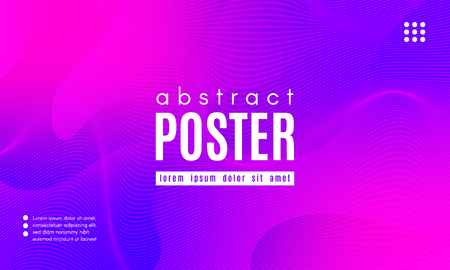 Abstract Background with Fluid Shapes. Wave Distorted Lines. Movement of Abstract Neon Liquid. Trendy Banner for Landing Page. Vector Abstract Background with Bright Vibrant Gradient and Wavy Liquid. Illustration