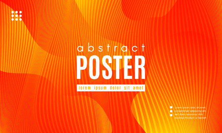 Fluid Shapes Abstract Composition. Gradient Background with Wave Lines. Trendy Web Page Template with Fluid Forms Concept. Poster with Distorted Stripes and 3d Effect. Vector Geometric Template. Stock Illustratie