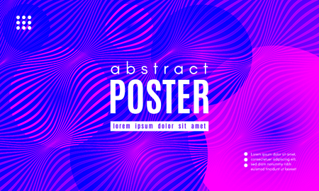 Abstract Background with Fluid Shapes. Wave Distorted Lines. Movement of Abstract Neon Liquid. Trendy Banner for Landing Page. Vector Abstract Background with Bright Vibrant Gradient and Wavy Liquid. Foto de archivo - 123069125