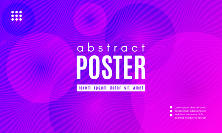 Abstract Background with Fluid Shapes. Wave Distorted Lines. Movement of Abstract Neon Liquid. Trendy Banner for Landing Page. Vector Abstract Background with Bright Vibrant Gradient and Wavy Liquid.  イラスト・ベクター素材