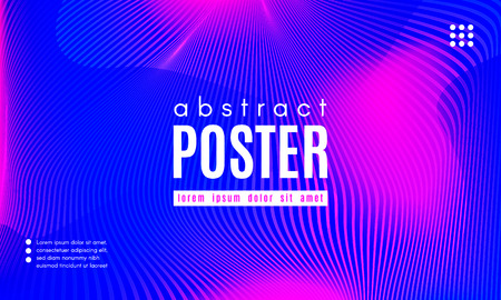 Gradient Fluid Shapes. Abstract Background in Blue and Pink Colors. Wave Liquid and Distorted Gradient Lines. Futuristic Concept of Landing Page. Geometric Abstract Poster with Dynamic Neon Gradient.  イラスト・ベクター素材