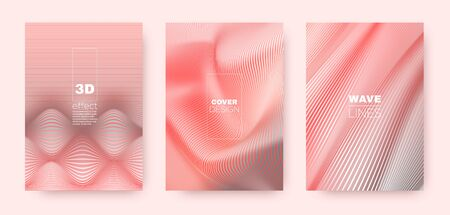 3d Lines Flyer. Wavy Flow Banner. Dynamic Striped Pattern. Coral Gradient Background. 3d Lines Design. Wavy Fluid Shape. Red Gradient Design. Dynamic Gradient Brochure. Striped Pattern.
