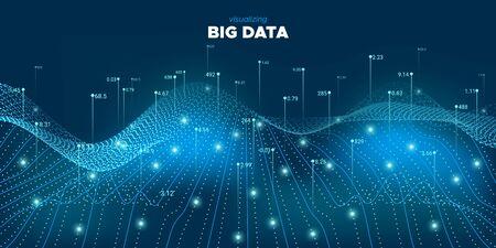 Data Tech. Blue Technology Illustration. Matrix Design. Analysis Big Data. Green Tech Movement. Financial Information. Blue Future Poster. Linear Big Data. Industrial Tech.