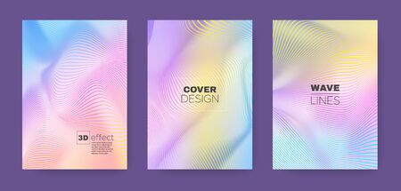 Colorful Poster. Pastel 3d Minimal. Lines Brochure. Dynamic Geometric Texture. Music Gradient Covers. Rainbow Lines Illustration. Music Gradient Banner. Colorful Halftone Texture.