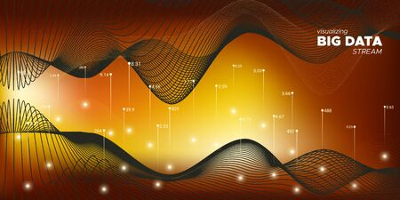 Big Data Screen. Matrix Visualization. Big Data Infographic. Black Graph Futuristic. Yellow Complexity Abstract. 3d Abstraction. Statistic Background. Big Data Stream.
