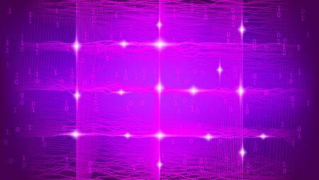 Light Big Data Visualization. Security Concept. Futuristic Information Cloud. Pink 3d Fractal. Magenta Big Data Geometric. Business Analysis. Technology Design. Tech Fractal. Social Network.