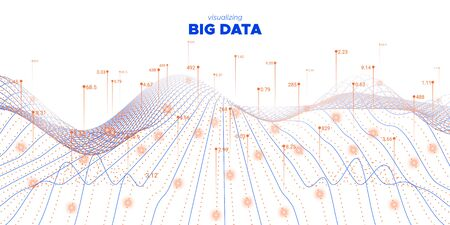 Data Flow. Fluid Statistic Background. Cyber Concept. Graph Big Data. Orange Virtual Effect. Futuristic Information. Fluid Coding Fractal. Linear Big Data. Virtual System.