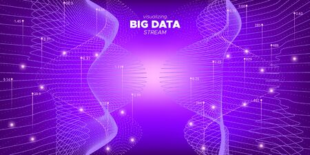 Purple Complex Big Data. Technology Visualization. Big Data Background. Purple Graph Futuristic. System Visualization. Graph Futuristic. Technology Abstract. Big Data Illustration.