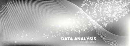 Streaming Visualization. White Digital Particles. Monochrome Binary Pattern. Matrix Digits. Gray Technology Background. Particle Future. Cyber Binary. Matrix Numbers. Information Technology. Ilustração