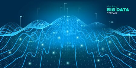 Data Stream. Fluid Statistic Information. Industry Banner. Linear Big Data. Blue Virtual System. Infographic Visualization. Light Cyber Poster. Complex Big Data. Industrial Tech. Ilustração