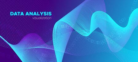 Science Visualization. Matrix Background. Violet Technology Design. Abstract Binary Flow. Science Wallpaper. Matrix Big Data. Technology Poster. Digital Binary Waves. Glow Vector Science Flyer.
