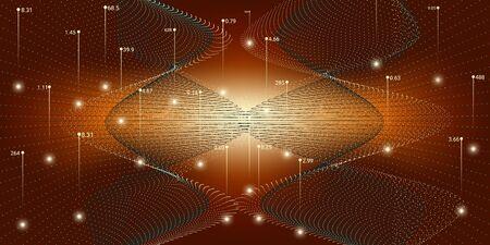 Big Data Vector. Technology Abstract. Big Data Illustration. Red Digital Binary Wave. Future Technology Background. 3d Abstraction. Background Statistic. Big Data Analytics.