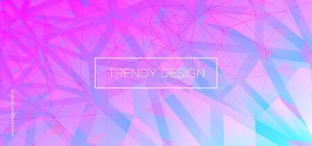 Mosaic Triangles Wallpaper. Digital Polygon Poster. Futuristic Color Presentation. Pastel Geometric Shapes. Triangular Background. Neon Polygon Layout. Graphic Geometry. Abstract Polygon Pattern. Ilustracja