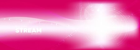 Pink Flow Particle Pattern. Matrix Vector. Bright Technology Wallpaper. Data Software. Shiny Glow Particle Background. Matrix Digits. Information Technology. Data Numbers. Light Particle Movement. Ilustração