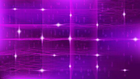 Light Big Data Architecture. Analysis Center. Gradient Information Cloud. Glow Tech Fractal. Magenta Big Data Background. Security Concept. Technology Design. 3d Fractal. Business Analysis. Banque d'images - 129695599