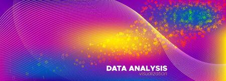Big Data Analysis. Holographic Technology Illustration. 3d Digital Particles. Matrix Number. Big Data Concept. Pink Matrix Visualization. Digital Binary Wave. Neon Matrix Digits. Big Data Cloud.