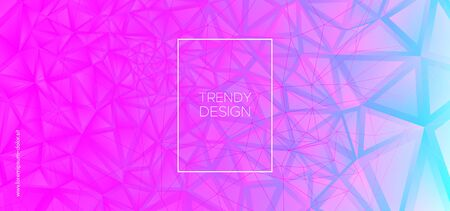Origami Triangles Background. Trendy Polygon Layout. Technology 3d Business Design. Blue Geometric Texture. Triangles Wallpaper. Pink Polygon Pattern. Graphic Geometry. Creative Polygon Poster.
