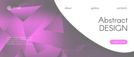 Gradient Science Presentation. Pink Technology Wallpaper. Futuristic Landing Page. Digital Triangle Graphic. Science Geometric. Gray Technology Background. Gradient Landing Page. Science Illustration. Ilustração Vetorial