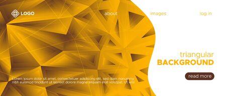 Glow Origami Background. Yellow Diamond Pattern. Brown Mosaic Wallpaper. Gradient 3d Modern Vector Poster. Origami Vector Design. Elegant Mosaic Banner. 3d Trendy Background. Origami Geometric. Çizim