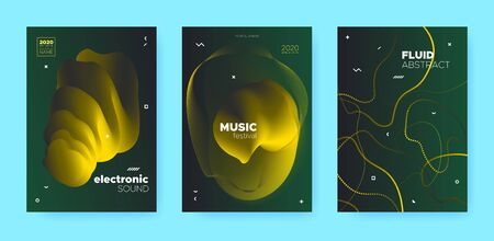 Gradient Flow Shapes. Disco Club Party Flyer. Luxury Music Background. Dj Sound. Gold 3d Futuristic Banner. Abstract Flow Shapes. Night Club Party Flyer. Music Invitation. Green Gradient Flow Shapes. Çizim