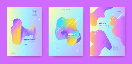 Trance Music Poster. Wave Gradient Blend. Disco Club Flyer. Fluid Shape. Pink Techno Music Poster. Pastel Abstract Gradient Shape. Night Club Festival. Dj Sound. Dance Music Poster.