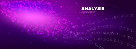 Digital Particles. Pink Big Data Stream. Light Tech Banner. Binary Number Background. Particle Motion. Neon Big Data Concept. Tech Abstract. Violet Binary Matrix Background. Particle Future.