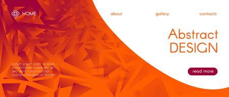 Mosaic Graphic. Red Diamond Geometric. 3d Abstract Vector Poster. Gradient Origami Background. Red Mosaic Wallpaper. Orange Diamond Banner. Red 3d Trendy Vector Design. Vibrant Mosaic Pattern. Ilustração Vetorial