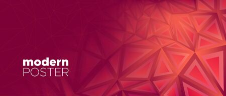 Triangles Background. Abstract Geometric Pattern. Red Vector Web Site. Coral Gradient Texture. Dark Triangle Wallpaper. Geometric Banner. 3d Abstract Web Page Design. Triangular Geometry. Çizim