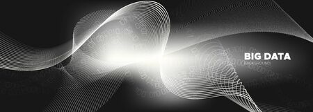 Technology Background. Gray Digital Particles. White Cyber Binary. Abstract Matrix. Monochrome Information Technology. Particles Stream. Binary Coding. Matrix Numbers. Streaming Backgrounds. 向量圖像