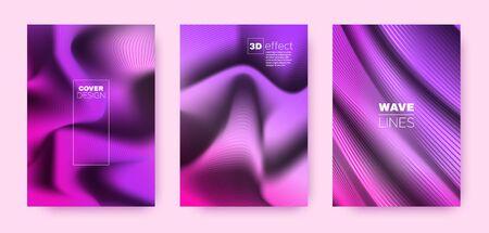 Blue Flow Cover. Neon Headline Template. Business Distorted Texture. 3d Movement Background. Violet Distorted Texture. Flow Background. Minimal Cover. 3d Geometric Concept.