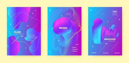 Purple Trance Music Poster. Wave Gradient Blend. Night 3d Banner. Dj Invitation. Blue Dance Music Poster. Pink Abstract Gradient Shape. Night Club Flyer. Dj Party. House Music Poster.