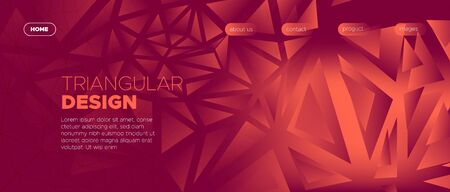 Triangles Background. Abstract Geometric Poster. Glow Vector Web Site. Burgundy Futuristic Style. Red Triangular Geometry. Geometric Pattern. 3d Abstract Digital Web Design. Triangle Wallpaper.