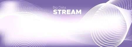 Big Data Stream. Purple Digital Particles. Light Tech Abstract. Binary Numbers Movement. Big Data Analysis. Particle Future. Tech Poster. Violet Binary Matrix Background. Glow Big Data Concept.