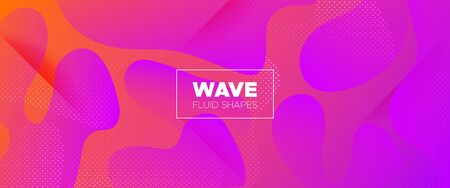 Abstract Wave Shapes. Light Gradient Poster. Multicolor Vector Illustration. Futuristic Motion. Abstract Flow Design. Minimal Brochure. Graphic Wallpaper. Futuristic Concept. 3d Fluid Background.