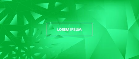 Abstract Polygonal Pattern. Vibrant Creative Geometry. Graphic Minimal Design. Dynamic Landing Page. Green 3d Modern Polygon Background. Vector Geometric Shapes. Commercial Polygonal Banner. Ilustração