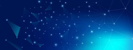 Technology Future. Big Data Server. Blue Triangles Banner. Gradient 3d Minimal Connection. Digital Technology. Big Data Blue. Glow Triangular Poster. Futuristic Wallpaper. Technology Pattern.