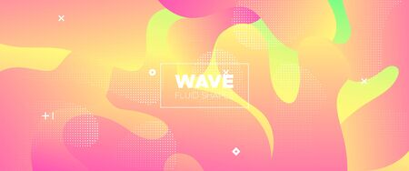 Abstract Wave Shapes. Pink Minimal Poster. Multicolor Vector Illustration. Futuristic Concept. Abstract Flow Design. Gradient Brochure. Graphic Wallpaper. Digital Template. Abstract Fluid Pattern. Illustration