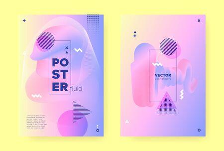Pastel Fluid Brochure. Colorful Hologram Background. Pastel Memphis Illustration. Liquid Shapes. Fluid Poster. Rainbow Holographic Gradient. Memphis Composition. Flow Shapes. Pastel Fluid Cover. Иллюстрация
