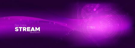 Digital Particles. Purple Big Data Concept. Glow Tech Banner. Binary Number Wallpaper. Particle Motion. Violet Big Data Analysis. Tech Poster. Pink Information Binary Technology. Particle Future. Illusztráció