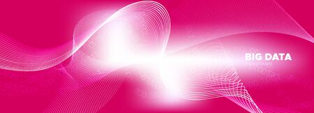Light Flow Particle Pattern. Matrix Vector. Shiny Information Technology. Big Data Stream. Bright Glow Particle Movement. Matrix Codes. Technology Abstract. Data Numbers. Pink Binary Background.