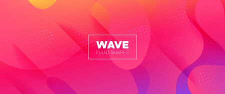 Colorful 3d Fluid Shapes. Gradient Background. Minimal Concept. Orange Wave Brochure. 3d Fluid Banner. Multicolor Futuristic Gradient. Pink Minimal Pattern. Bright Flow Brochure. Abstract Shapes. Çizim