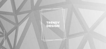 Trendy Triangles Wallpaper. Creative Polygon Layout. Futuristic Vector Illustration. Gray Geometric Texture. Triangular Background. Monochrome Polygon Pattern. Geometric Shapes. Triangles Background. Standard-Bild - 133538038