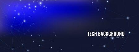 Futuristic Technology Texture. Big Data Social. Magic Triangular Banner. Dark Wallpaper. Light Futuristic Architecture. Digital Technology. Big Data Center. Polygonal Poster. Futuristic Connection. Illustration